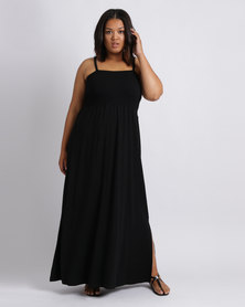 Utopia Plus Maxi Boobtube Dress Black