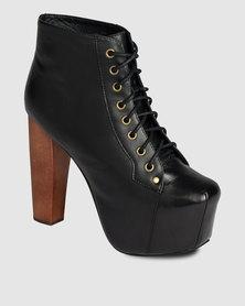 Jeffrey Campbell Lita Boots Black Leather