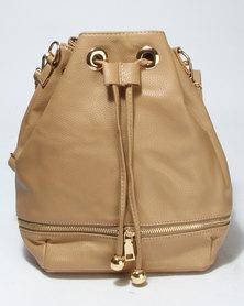 Vikson Zip Drawstring Bag Neutrals