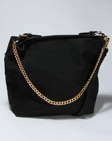 Vikson Chain Bucket Bag Black