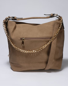 Vikson Chain Bucket Bag Taupe