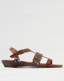 Franco Gemelli Cassy Wedge Sandal Choc