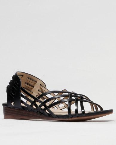 Franco Gemelli Becca Flat Sandal Black