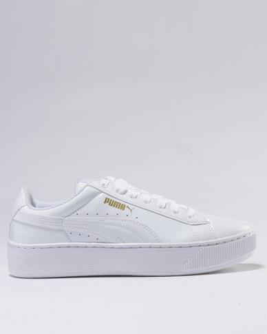 8959cd9e92b7 Puma Vikky Platform Patent White