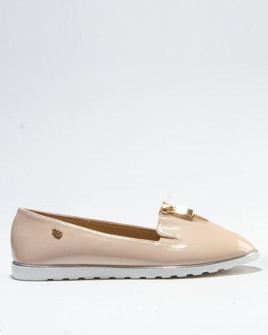 Miss Black Flier Flat Shoe Nude