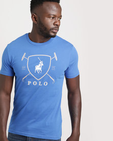 Polo Mens Classic Printed Crew Neck Cobolt