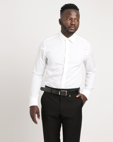 1d2cb51cf644 Polo Mens Custom Fit Signature Long Sleeve Shirt White | Zando