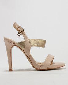 Bronx Flo Heeled Sandals Nude