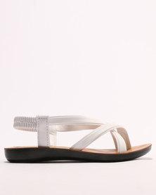 Sarah J Girls Sandals White