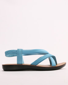 Sarah J Girls Sandals Turquoise