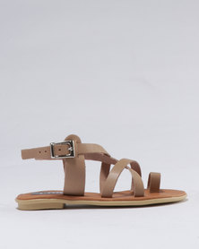 Utopia Girls Leather Sandal Camel