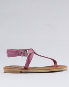 Utopia Girls Leather Sandal Pink