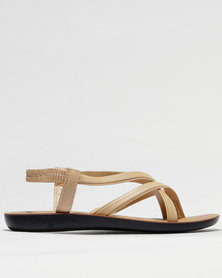 Sarah J Strappy Sandals Nude