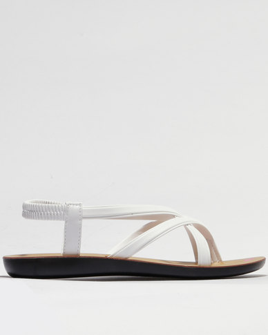 Sarah J Strappy Sandals White