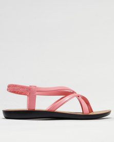 Sarah J Strappy Sandals Coral