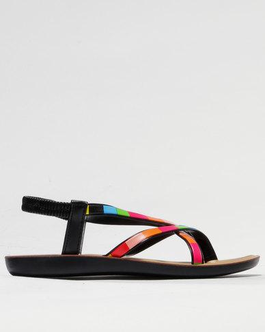 Sarah J Strappy Sandals Multi