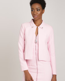 Queenspark Day Dream Woven Jacket Pink