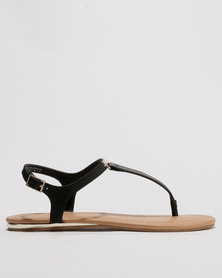 Call It Spring Blinder T-strap Sandal Black