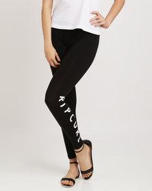 Rip Curl Logo Leggings Black