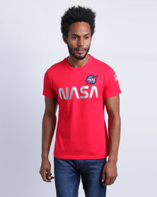 Alpha Industries Nasa-T-Shirt Red