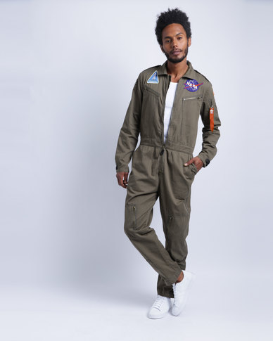 366b310d75b Alpha Industries Nasa Flight Suit Olive
