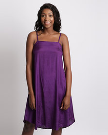 UB Creative Short Vintage Petticoat Dress Purple