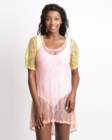 UB Creative Ombre Dye Lace Over Top Yellow Orange