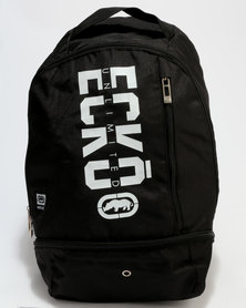 ECKÓ Unltd Front Print Backpacks Black