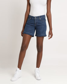 Utopia Basic Denim Shorts Light Blue
