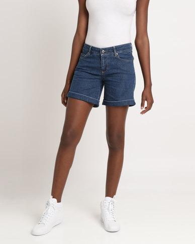 Utopia Basic Denim Shorts Light Blue