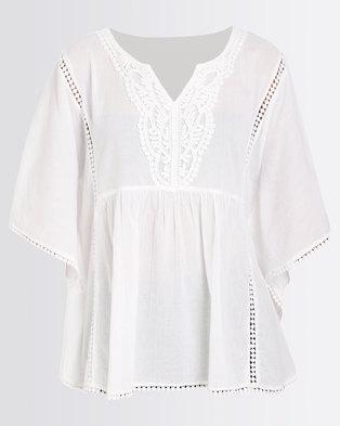 189f086c61937d G Couture Cotton Tunic White