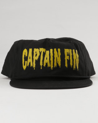 15c56c79351 Captain Fin Ghouls 5 Panel Hat Black