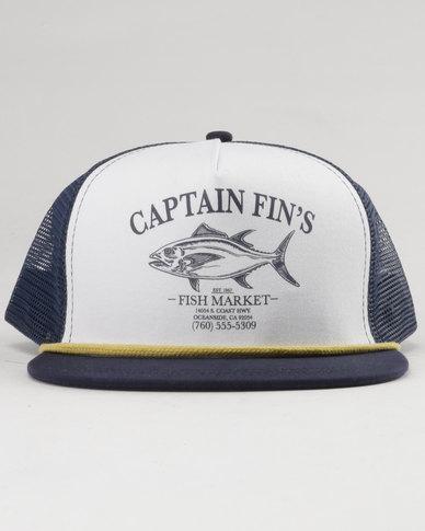 e2bdf269e Captain Fin Fish Market Trucker White/Navy