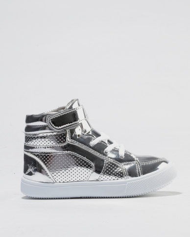 Soviet Sabrina Hi Top Sneakers Silver