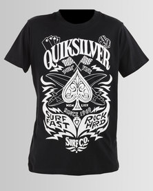 Quiksilver Boys Custom Ride T-Shirt Black