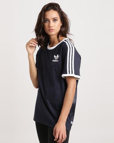 4ab7587e78 adidas 3 Stripes Tee Ink Blue | Zando