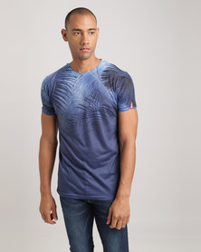Juice X-Ray Flora Longline T-Shirt Navy