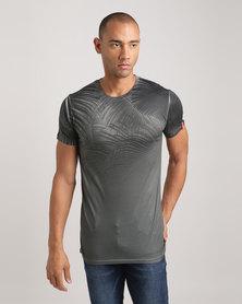 Juice X-Ray Flora Longline T-Shirt Khaki