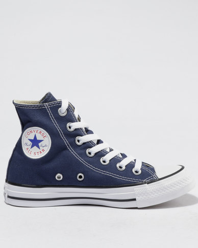 9829df57a998c Converse Chuck Taylor All Star Hi Ladies Sneakers Navy