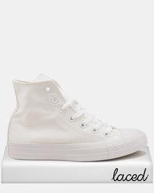 Converse Chuck Taylor All Stars Mono SMU Hi Sneakers White