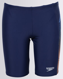 Speedo Star Kick Logo Panel Jammer Blue