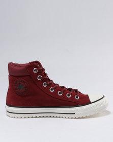 Converse Chuck Taylor All Star Boot PC Material Mix Hi Top Red Block