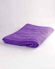 Colibri Towelling Universal Bath Sheet Purple