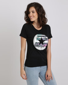 Converse Photo Fill Chuck Patch Crew Tee Black