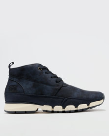 Paul Of London High Top Lace Up Sneakers Navy