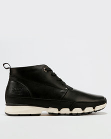 Paul Of London High Top Lace Up Sneakers Black