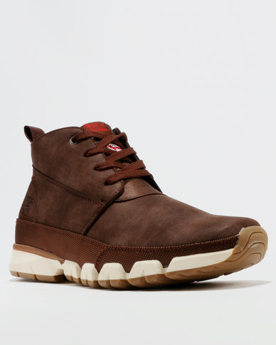 Paul Of London High Top Lace Up Sneakers Brown