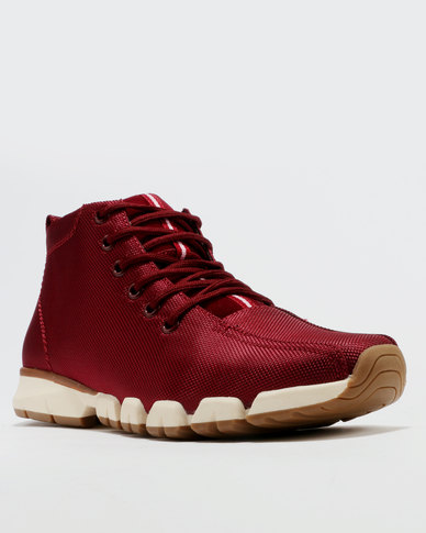 Paul of London Casual Lace Up High Top Sneakers  Maroon