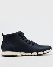 Paul of London Casual Lace Up High Top Sneakers Navy