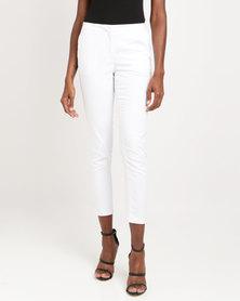 Utopia Sateen Straight Leg Pants White